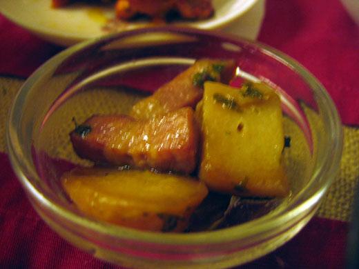 厚切りベーコンとポテトの炒め物