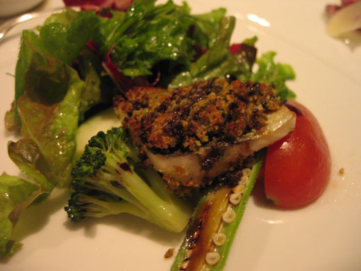 OTTO SETTEの前菜 焼き岩魚と八ヶ岳の野菜