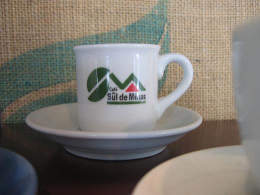 丸山珈琲 小淵沢店に展示されていたCafe do Sul de Minasのエスプレッソカップ