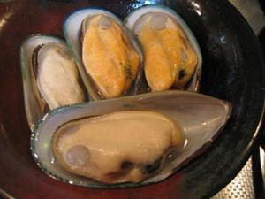 ムール貝の仕込み