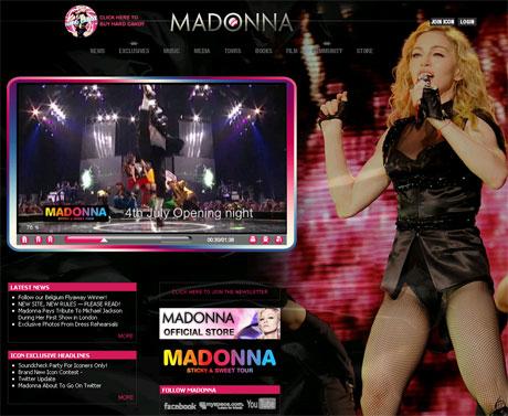 MADONNAのオフィシャルサイト
