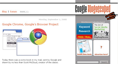 Google's Browser Project Website