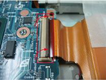 CFカードスロットのケーブルとマザーボード接続部分