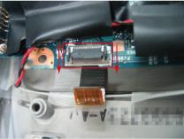 マザーボード裏面のモデムケーブル接続部