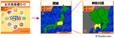 Otenki.comでの携帯FLASHの画面例